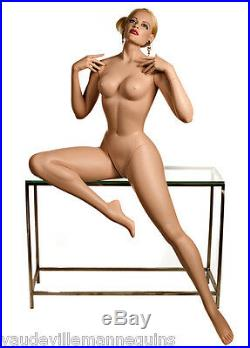 SEXY SEATED FEMALE MANNEQUIN from Decter-Vintage Vargas Girl Pin Up Style