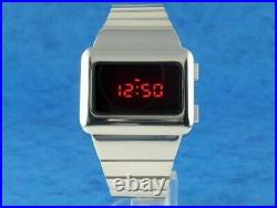 SILVER X-MEN APOCALYPSE 70s Old Vintage Style LED DIGITAL Rare Retro Mens Watch
