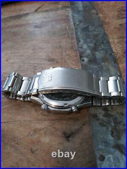 Seiko 7A38-7020 Royal Oak Style Chronograph Men's Watch Nice