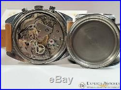 Serviced 1970 Vintage BWC Chronograph 7733 Watch Panda Dial Military Heuer Style