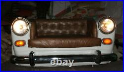 Sofa Restoration Style Vintage Car Top Grain Leather Tufted Chesterfield Sofa