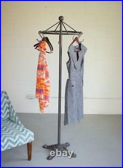 Spinning Clothes Rack Garment Stand Antique Vintage Style Coat Hat Holder