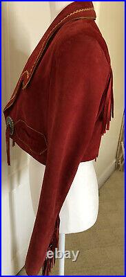 Superb Vintage Anna Sui Cropped Suede Leather Western Style Jacket