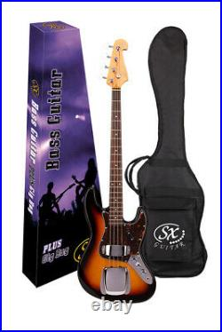 Sx Electric Bass Jazz Style In Vintage Sunburst With Gig Bag Special Price