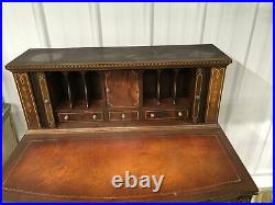 VINTAGE FEDERAL STYLE TAMBOUR DESK 1940s MAHOGANY