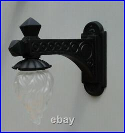 Victorian Wall Sconce Street Light Fixture Wired Vintage Antique Old Style