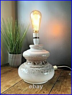 Vintage 60's 70's West German Pottery Lamp Base Retro Scheurich Fat Lava Style