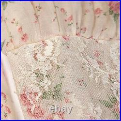 Vintage 70s Gunne Sax STYLE Prairie Dress, Size 6, Yellow, Mutton Sleeves