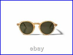 Vintage American Optical 1930s Tart Arnel Style Sunglasses Amber Yellow Keyhole