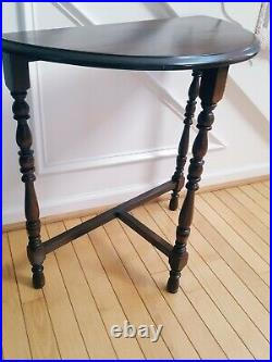 Vintage/Antique Demilune Half Moon End/Side Table Victorian Style Spindles