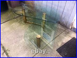 Vintage Brass Boomerang Coffee Table Pace Style Mid Century Modern