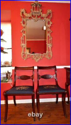 Vintage Chinese Chippendale-Style Chinese Pagoda Chinoiserie Mirror