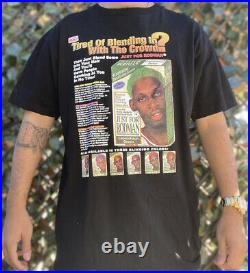 Vintage Dennis Rodman Chicago Bulls Bootleg Style Rap T Shirt Xl