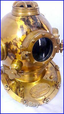 Vintage Divers Diving HELMET Scuba Style US Navy Mark V Full size Antique Gift