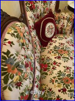 Vintage Early 1800s Victorian Style Sofa and 2 Chairs EXCELLENT CONDITION