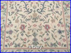 Vintage French Style Handmade Aubusson Rug Needle Point Oriental Wool Area Rug