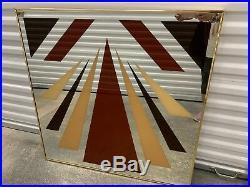 Vintage MID Century Modern Greg Copeland Style Geometric Pop Op Art Mirror