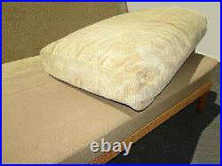 Vintage McGuire Coastal Style Sage Green Sofa Couch Settee