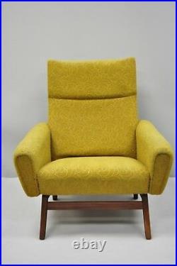 Vintage Mid Century Modern Danish Walnut Club Lounge Chair Adrian Pearsall Style