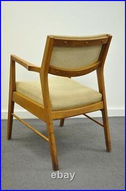 Vintage Mid Century Modern Walnut Office Desk Arm Chair Danish Style Gunlocke