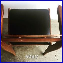 Vintage Rare Danish Style Mid-Century Modern Rosewood Carver Chair