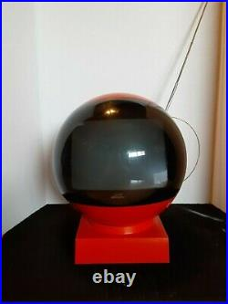 Vintage Space Age Psychedelic Antique Jetsons Atomic Style Old Mini Television