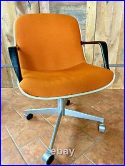 Vintage Steelcase Office Chair Mid Century Modern 451 orange Knoll Pollock Style