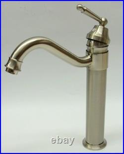 Vintage Style Chrome Polished Brushed Steel Bath Basin Sink Mono Bloc Mixer Tap