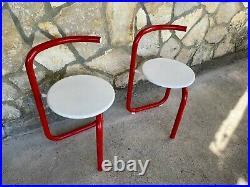 Vintage Tubular Chair Mid Century Modernist Memphis Style Design Space Age