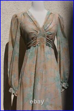 Vintage gunne sax Style Dress Boho Floral Prairie Cotton Dress M