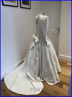 Vintage laura ashley wedding dress Princess Diana Style Tulle Gown 10 Exquisite