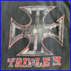Vintage wwf wrestling t shirt triple h rap style tee HHH stone cold undertaker