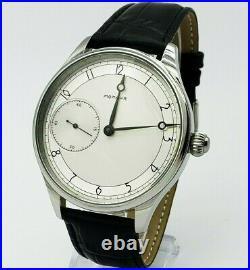 Watch Marriage 3602 Silver dial Dress Men's Wristwatch Vintage Style USSR