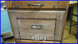 Weis Vintage Antique Wood Filing Cabinet Wooden Mission Style